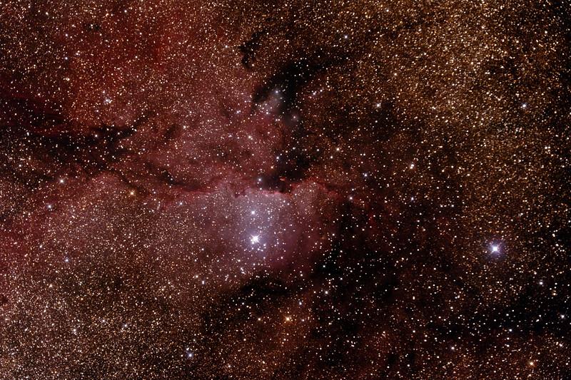 NGC6188 - Gum 53 - RCW108 - Rim Nebula in Ara - 22/5/2015 (Processed stack)