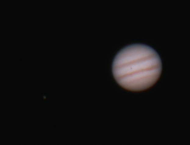Jupiter near Opposition - 14/2/2015 (Processed cropped stack)