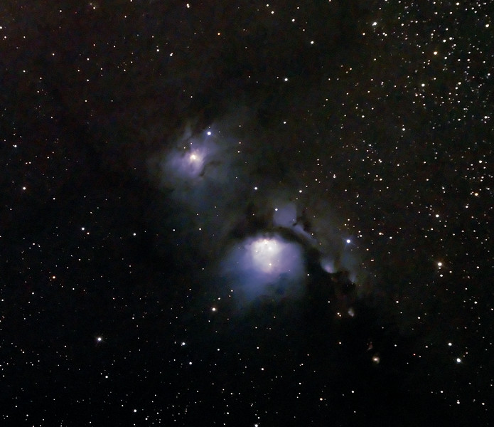 Messier M78 - NGC2068 - Reflection Nebula in Orion - 25/1/2015 (Processed cropped stack)