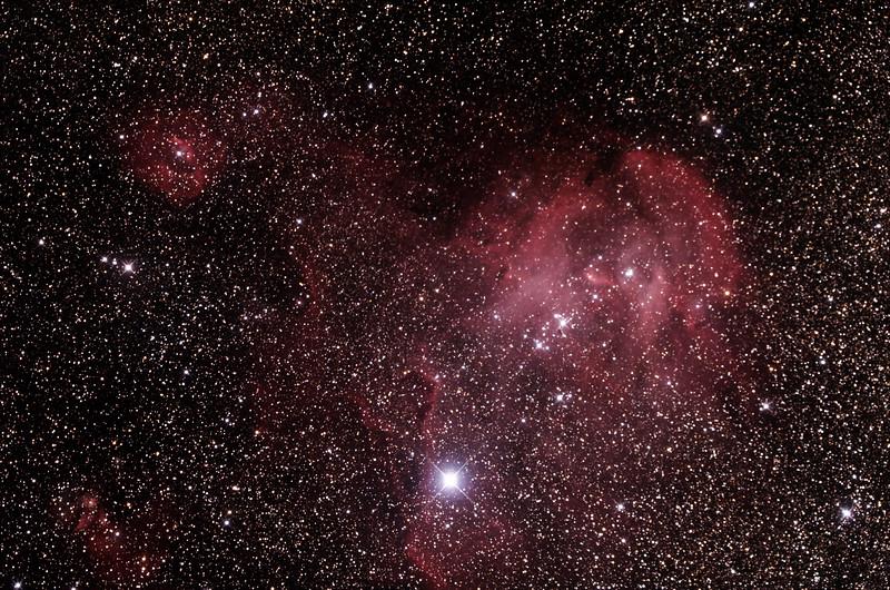 Caldwell 100 - Gum 39/40/41/42 - Running Chicken or Lamda Centauri Nebula in Centaurus - 25/1/2015 (Processed stack)