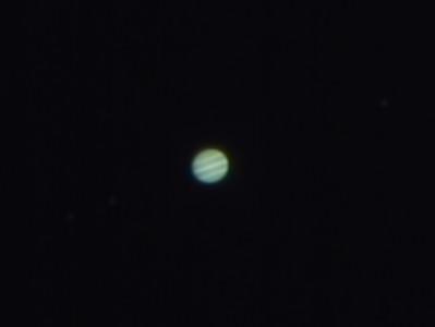 Jupiter and 3 Moons at Venus and Jupiter Conjunction 2015 - 28/6/2015 (Processed cropped stack)