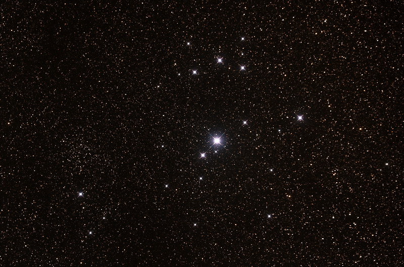 Caldwell 102 - IC2602 - Southern Pleiades or Theta Carina Cluster - 20/4/2015  (Processed stack)