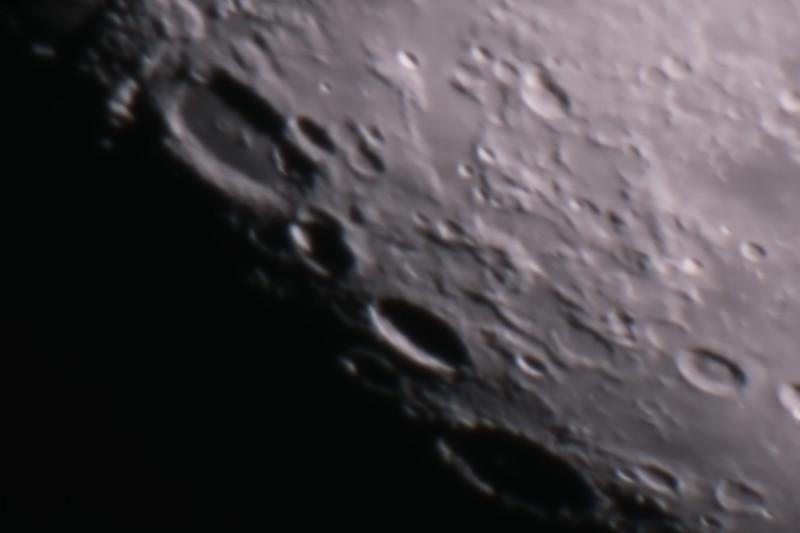 Gibbous Moon - Cleomedes, Burckhardt & Geminus craters - 6/2/2015 (Processed stack)