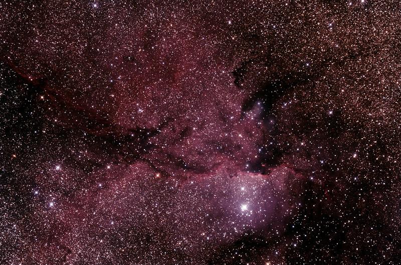 NGC6188 - Gum 53 - RCW108 - Rim Nebula in Ara - 23/5/2015 (Processed stack)
