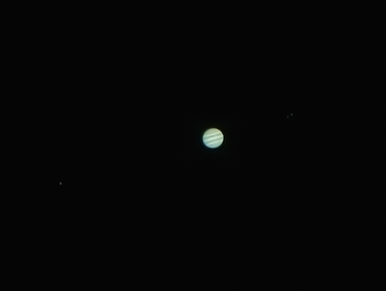 Jupiter with Ganymede, Europa and Callisto - 22/3/2015 (Processed stack)