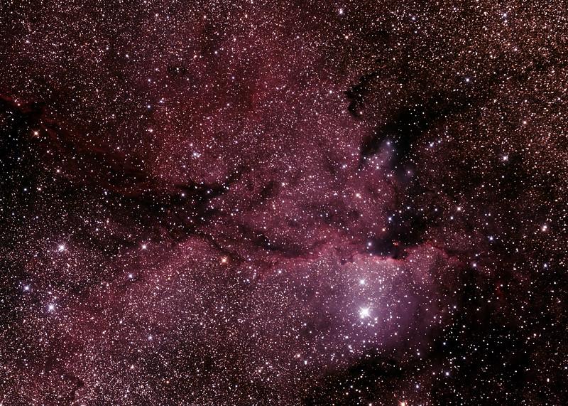 NGC6188 - Gum 53 - RCW108 - Rim Nebula in Ara - 23/5/2015 (Processed cropped stack)