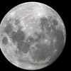 Near Full Moon - 4/1/2015 (Processed stack)