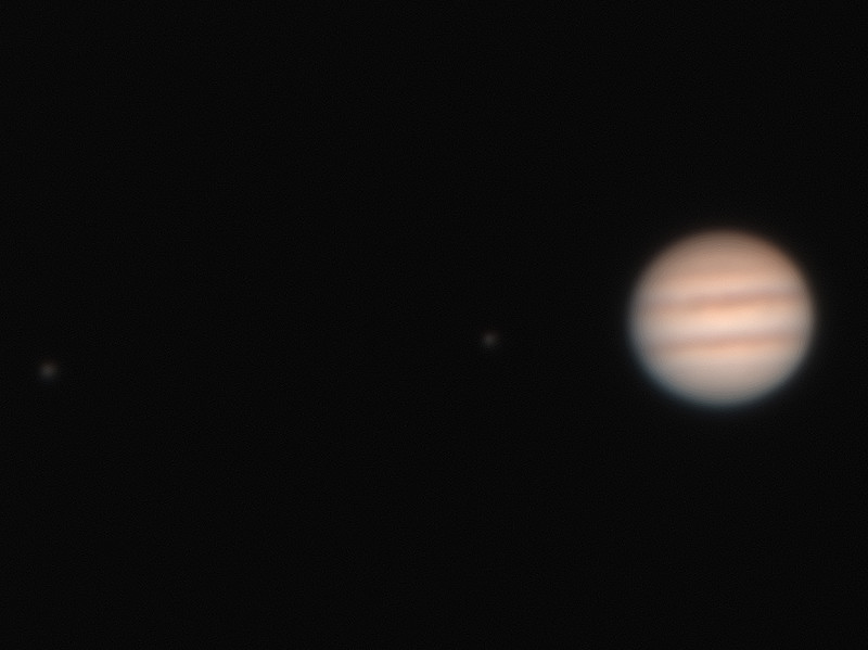 Jupiter & Two Moons - 12/1/2015 (Processed cropped stack)
