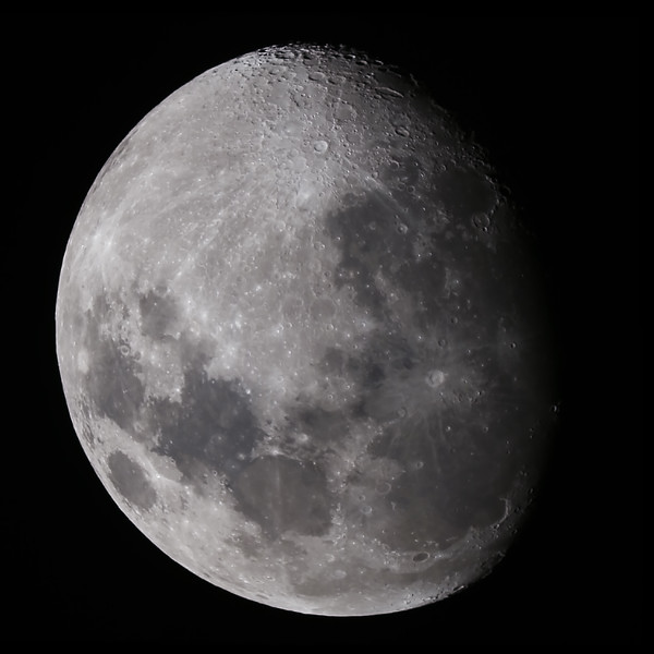 Waxing Gibbous Moon - 28/6/2015 (Processed Mosaic stacks)