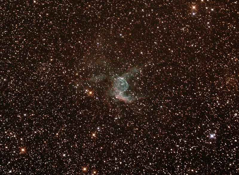 NGC2359 - Gum4 - Thor's Helmet in Canis Major - 22/3/2015 (Processed cropped stack)