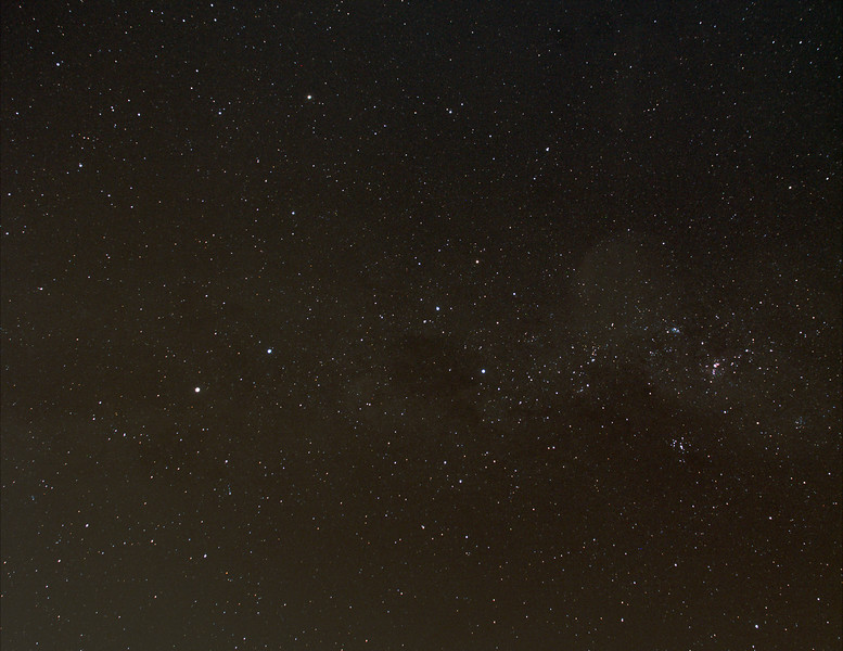 Milky Way centered on Crux  - 3/4/2015 (Processed cropped stack)