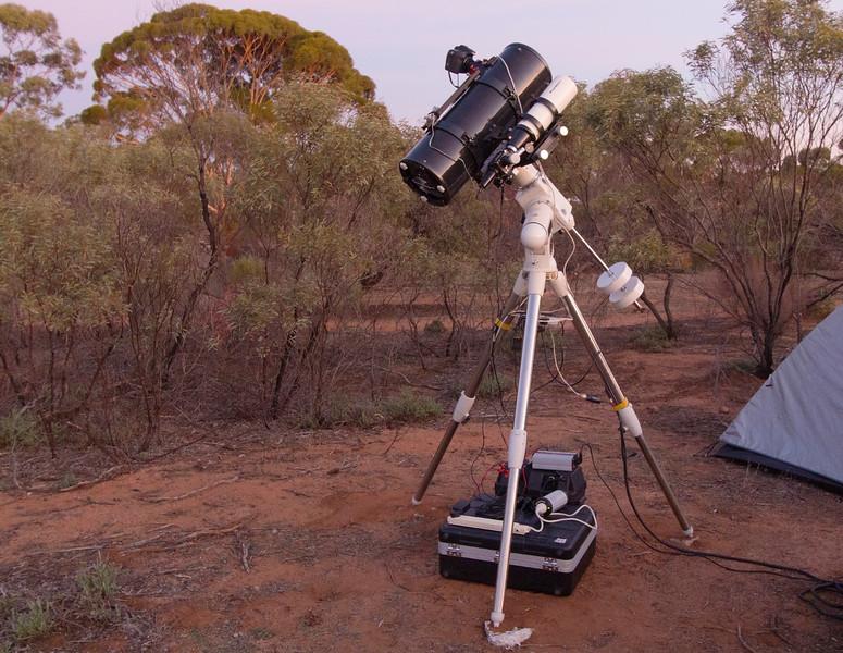 Telescope set up at Karalee Rocks - 23/05/2015