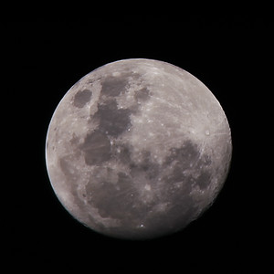 Waxing Gibbous Moon - 24/11/2015 (Processed stack)