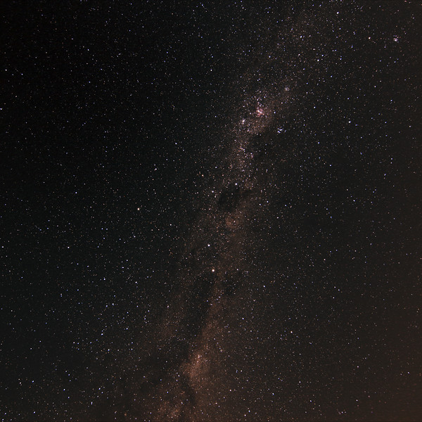 Milky Way 'Head of the Emu' - 29/3/2017 (Processed cropped stack)