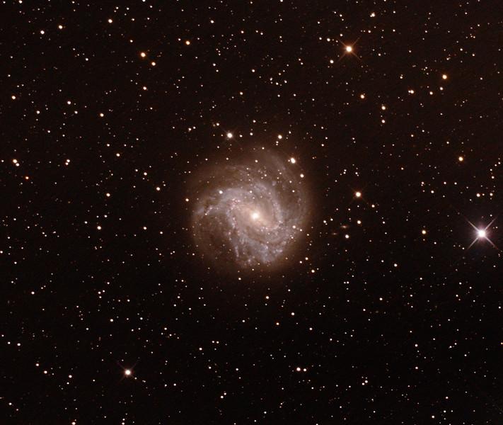 M83 NGC5236 Southern Pinwheel Galaxy - 3/2/2017 (Processed cropped stack)