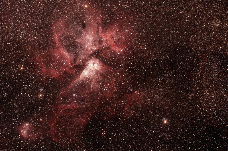 Caldwell 92 Eta Carinae Neblua with  NGC3324/IC2599 Gum 31 Galactic Nebula - 25/2/2017 (4 panel Mosaic)