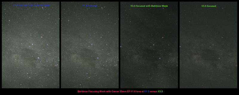 Bahtinov Focusing 50mm f/1.8 vs f/3.5 - 25/4/2017