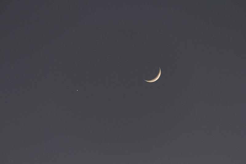 The Moon and the Morning Star - 21/6/2017 (Processed single image)
