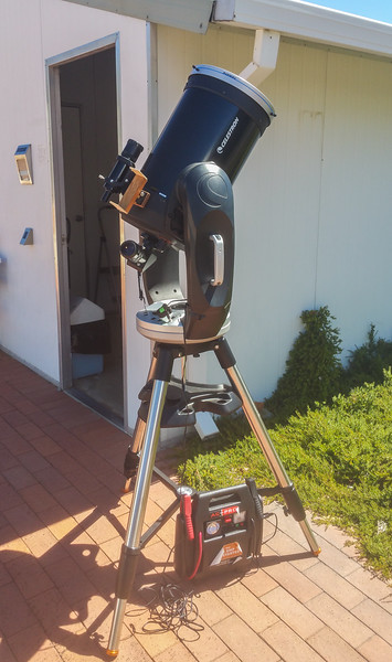 CPC-1100 with homemade Sun FInder - 18/2/2017