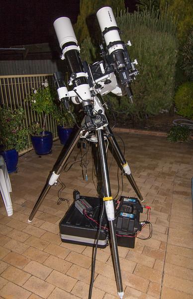 Skywatcher ED80 on NEQ6 mount - 7/4/2017