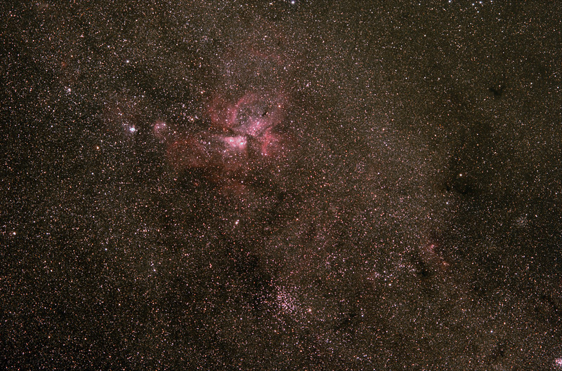 Eta Carinae and surrounds - 26/01/2020 (Processed Stack