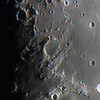 Lunar Terminator near Sea Of Tranquility - 29/4/2020 (Processed video stack)