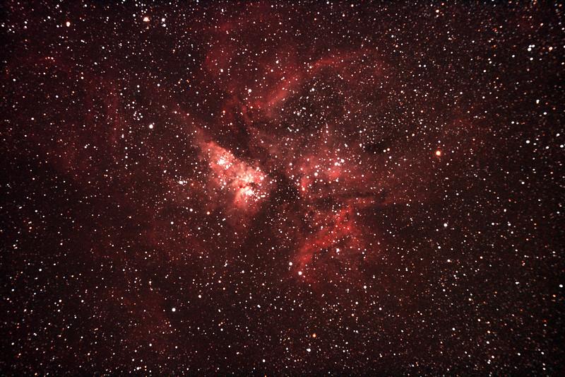 Caldwell 92 - NGC3372 Eta Carinae Nebula - 28/11/2010 (Processed Stack)