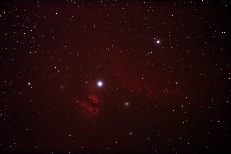 IC434 Horsehead Nebula near Star Alnitak - 10/12/2010 (Processed Stack 3/3)