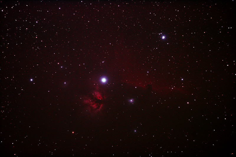 IC434 Horsehead Nebula near Star Alnitak - 8/12/2010 (Re-processed Stack 1/3)