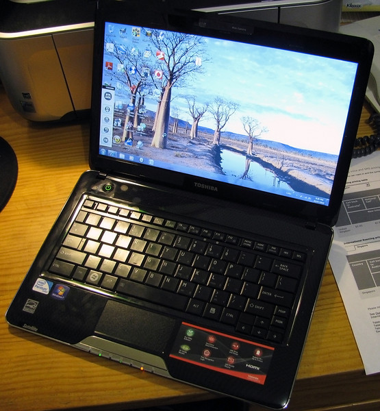 Toshiba T130 Netbook that I started out with - Acquired 14/06/2010