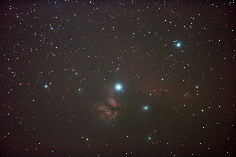 IC434 Horsehead Nebula near Star Alnitak - 9/12/2010 (Processed Stack 2/3)