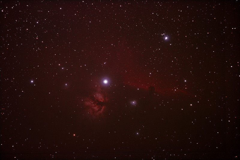 IC434 Horsehead Nebula near Star Alnitak - 8-10/12/2010 (Re-processed 3 night stack)