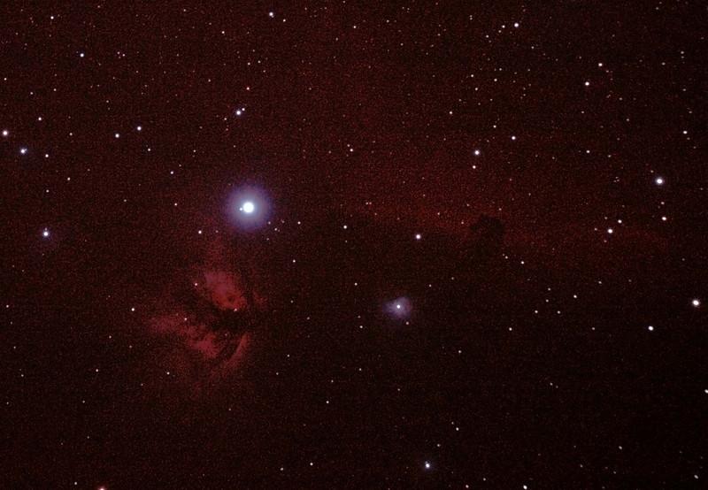 IC434 Horsehead Nebula near Star Alnitak - 14/11/2010 (Reprocessed RAW stack)