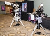 Astro-Physics booth - AP1600 with AP175 scope on left and Moch 1 on the right. The Mach 1 was sporting th enew Right Angle Polar Alignment Scope.