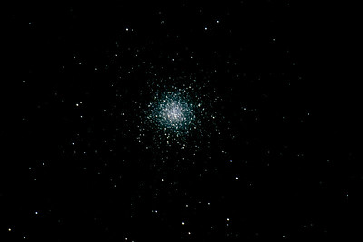 Messier 13, some 25,100 light years away and found in the constellation of Hercules. and a magnitude of 250,000 of our Suns!