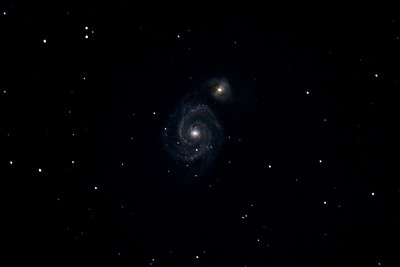 Messier 51, the Whirlpool Galaxy. A distance of some 21 million light years from earth, with a radius of some 38000 light-years!