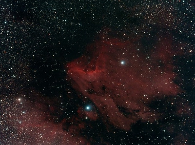The Pelican Nebula - in the constellation of Cygnus - around 1800 light years away.
