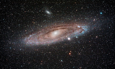 The Andromeda Galaxy. 2.5 hours of different exposures...