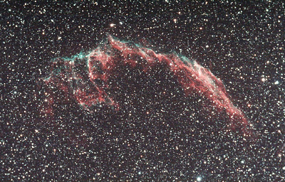 NGC 6995 - The Eastern Veil Nebula. A supernova remnant some 1800 lightyears from earth in the Cygnus constellation.