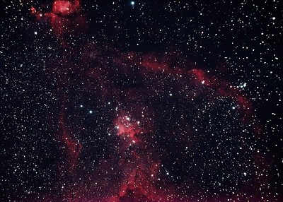 The Heart Nebula, around 6200 light years away.