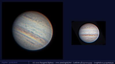 2010 JUL: Details in den Jupiterbänder sind deutlich sichtbar.
