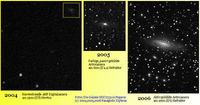 2006 JUNI: Die Spiralarme von NGC7331 sind sichtbar
