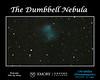 Dumbbell Nebula M27 (m=7.1, diam.=6').