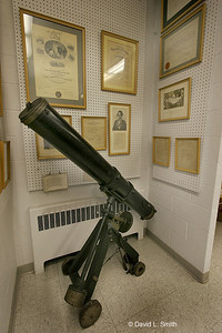 Small reflecting telescope.