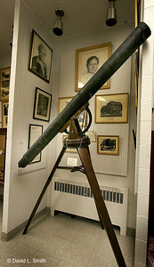 Squire Wamper's telescope a closeup. Brashears first look at the heavens was through this instrument.