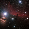 IC434 Horsehead and NGC2024 Flame Nebulae in Orion - 24/9/2014 (Processed cropped stack)