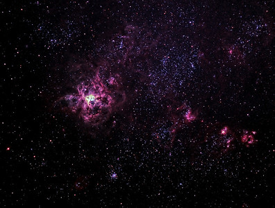Caldwell 103 - NGC2070 - 30 Doradus Tarantula Nebula - 24/12/2011 (Colour enhanced Processed cropped stack)