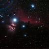 IC434 Horsehead Nebula and NGC2024 Flame Nebula near Star Alnitak - 10/11/2013 (Reprocessed stack)