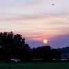 Sunset through smokey cloud - 22/10/2013 (Processed cropped image)