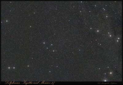 Delphinus, Sagitta and M27